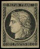 (*) EMISSION DE 1849 - 3    20c. Noir Sur Jaune, TB - 1849-1850 Ceres