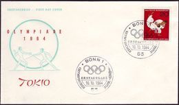 Germany - 1964 - Olympic Games 1964 - FDC - Estate 1964: Tokio