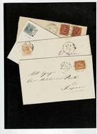 Italia Regno 1867-79,quatro Lettere Da Palermo Per Trapani,molto Belle - Poststempel