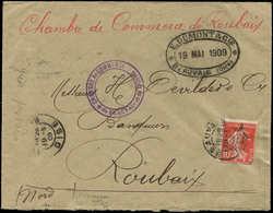 Let Spécialités Diverses - TIMBRES DE GREVE Poste N°138 Défx Obl. BEAUVAIS 19/5/09 S. Env., Cachet De La Chambre De Comm - Poststempel (Briefe)
