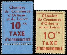 ** Spécialités Diverses - TIMBRES DE GREVE, ORLEANS 2/3 : 10f. Rouge-brun Sur Bleu Et 10f. Rouge Sur Brique Sur Jaune, T - Poststempel (Briefe)