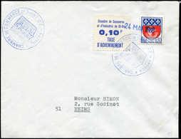 Let Spécialités Diverses - TIMBRES DE GREVE, SAINT DIE 7 : 0,10 F Bleu + Poste N°1354B Obl. 24/5/68 S. Env., TB - Poststempel (Briefe)