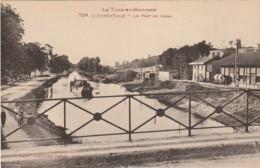 J9- 82) DIEUPENTALE (TARN ET GARONNE) LE PONT CANAL - (PENICHE - CHEVAUX DE HALAGE - WAGON - 2 SCANS) - Frankrijk