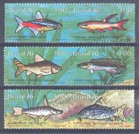 Brazil 1976 Mi 1545-1550 MNH ( ZS3 BRZpar1545-1550 ) - Peces
