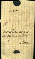 SP101 PREFILATELICA NAPOLEONICA DA FOSSOMBRONE A ROMA 1812 - Italy