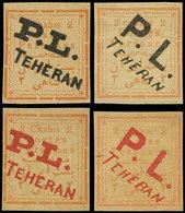 (*) IRAN 174/75 : Surcharge Noire (2) Ou Rouge (2), TB - Iran