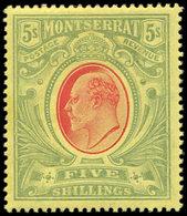 * MONTSERRAT 40 : 5sh. Vert Et Rouge Sur Jaune, TB - Montserrat