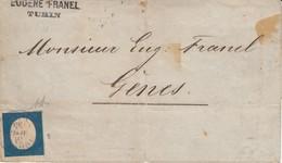 N° 8 ( 3 Belles Marges / Au Cadre En Bas , à Gauche) / L De TORINO / 31.5.1855-> Genova - Sardinia