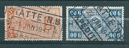 TR 243 + 254 Gestempeld STATTE NB - EXPEDITIONS - Bahnwesen
