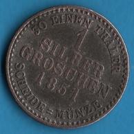 HESSEN 1 SILBER GROSCHEN 1851 KM# 615 Friedrich Wilhelm I - [ 1] …-1871 : German States