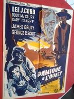 Aff Ciné Orig PANIQUE A L OUEST (BRAZEN BELL) 80X60 George C Scott 1962 Illu Ghirardi - Affiches & Posters
