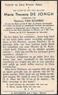 Austruweel, Ekeren, 1943, Maria De Jonghe, Van Scharen - Devotieprenten