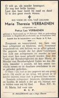 Austruweel, Kapellen, 1943, Maria Verbaenen, - Devotieprenten