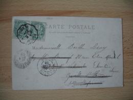 Elbeuf A Rouen  Cachet Ambulant Convoyeur Poste Ferroviaire Sur Lettre - Marcophilie (Lettres)