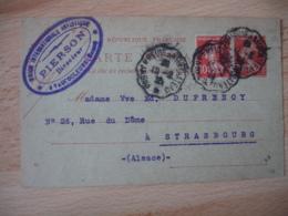Pagny Sur Meuse A Neufchateau  Cachet Ambulant Convoyeur Poste Ferroviaire Sur Lettre - Marcophilie (Lettres)
