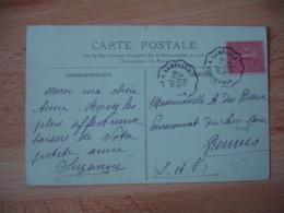 Avranches A Lamballe  Cachet Ambulant Convoyeur Poste Ferroviaire Sur Lettre - Marcofilie (Brieven)