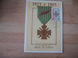 Croix De Guerre 1915.1965    Cm   C M Carte Maximum - Maximumkaarten