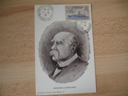 1939  Bateau Clemenceau Mouilleron  Vendee Cm C M Carte Maximum - 1930-39