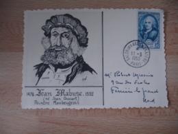 1950  Sur Timbre Turgot Salon Des Arts Menagers Obliteration Sur Lettre - Marcophilie (Lettres)
