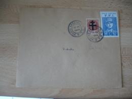 Poste Speciale F F I  Timbre Petain Surcharge Croix Lorraine Et Vignette General De Gaulle M L N  Lille - Guerre De 1939-45