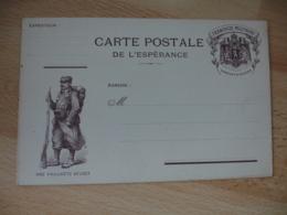 Nos Vaillants Belges  Honneur Belgique Fantassin Carte Postale Esperance Franchise Postale Militaire Guerre 14.18 - Oorlog 1914-18