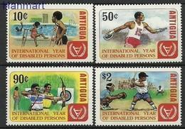 Antigua And Barbuda 1981 Mi 654-657 MNH ( ZS2 ANB654-657 ) - Tiro Al Arco