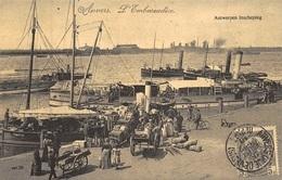 Antwerpen Anvers   Inscheping Laden Lossen  Boten Schepen  L'Embarcadère     Boot Temsche  Reproductie    X 3156 - Antwerpen