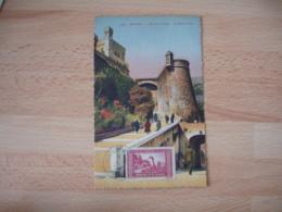 1943 Monaco Ville Montee Du Palais Cm C M Carte Maximum - Cartes-Maximum (CM)