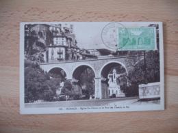 1943 Monaco Ville Sainte Devote Pont Chemin Fer  Cm C M Carte Maximum - Cartes-Maximum (CM)