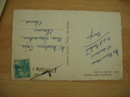 Griffe Lineaire Paris A La Rochelle Cachet Ambulant Convoyeur Poste Ferroviaire Sur Lettre - Postmark Collection (Covers)