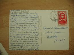 Timbre Champlain 12 Plus 3 F Rouge Seul Sur Lettre - Marcophilie (Lettres)