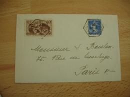 Villeneuve Saint Georges  Recette Auxiliaire Cachet Hexagonal Timbre La Marseillaise De Rude - Marcophilie (Lettres)