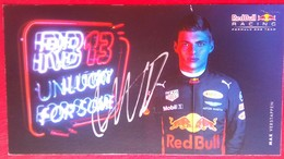 Max Verstappen - Handtekening