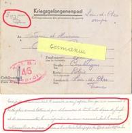 GUERRE 39-45 COR. PRISONNIER Au STALAG IB /46 Hohenstein , Olsztynek Pologne ** SOYEZ POUR PÉTAIN ** - Poststempel (Briefe)
