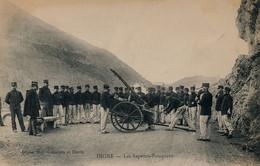 PRCP,  DIGNE , Alpes-de-Haute-Provence - Les Sapeurs-Pompiers, Brandweer, Photo Of Old Postcard, 2 Scans - Métiers