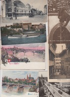 65 OLD POSTCARDS SWITZERLAND - SCHWEIZ - BASEL - BALE - BS Basel-Stadt
