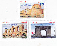 Tunisia New Issue 2019,Archeology Forts 3 Stamps Complete Set MNH - ( No Paypal & No Skrill ) - Tunisia