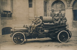 PRCP, , Les Sapeurs-Pompiers, Brandweer, Photo Of Old Postcard, 2 Scans - Métiers