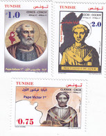 Tunisia New Issue 2019, Pope From Tunisia 3 Stamps Compl.set MNH ( No Skrill & Paypal ) - Tunisia