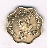 5  SENTIMOS 1981 FILIPPIJNEN /956/ - Philippines