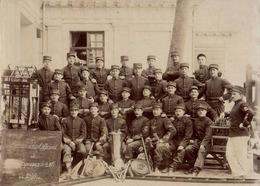 PRCP, , Les Sapeurs-Pompiers De Paris / Elèves Sous-officiers,  Brandweer, Photo Of Old Postcard, 2 Scans - Métiers