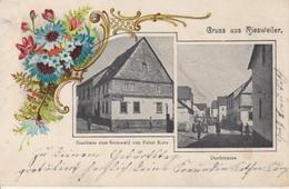Riesweiler Litho Gasthaus Kurz Dorfstraße Gl1903 #94.865 - Non Classés