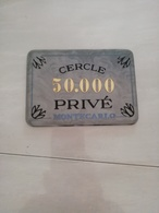 11686   PLAQUE DE 50 000  CERCLE PRIVE MONTE CARLO  JEU DE SOCIETE - Autres