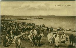AFRICA - LIBYA - TRIPOLI - IL PORTO - EDIZ. COMETTO - POSTMARK / TIMBRO 82 REGGIMENTO FANTERIA COMANDO - 1912 (BG7560) - Libia