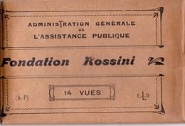 CPA - 75 - PARIS (16ème) - HOPITAUX - FONDATION ROSSINI Pochette De 14 CPA Parfait état (A.P) Adm Générale Ass Publique - District 16