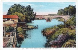 89 - Yonne -  Pont Sur Yonne -  Vue Un Coin De L Yonne Et Du Pont - Pont Sur Yonne