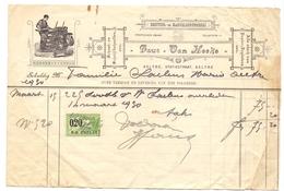 Factuur Facture - Drukkerij Faut - Van Hecke - Aalter 1930 - Stamperia & Cartoleria