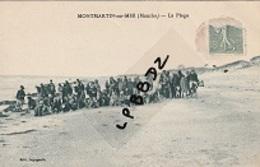 CPA - 50 - MONTMARTIN Sur MER - La Plage - Belle Animation - 1924 - Montmartin Sur Mer