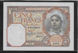 Algérie - 5 Francs - Pick N°77 - NEUF - Algérie