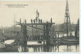 Catastrophe De Montreuil-Bellay-Travaux Du Relevage Du Pont - Montreuil Bellay